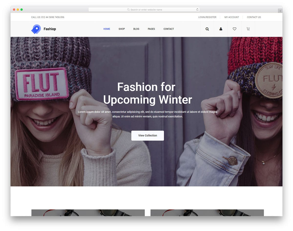 fashiop-free-clean-website-templates