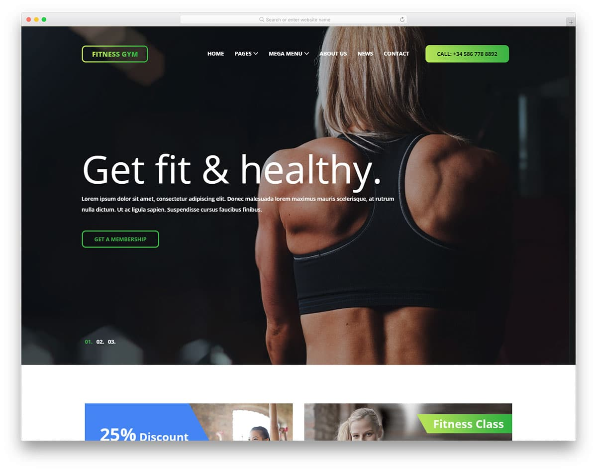 fitnessgym-free-sports-website-templates