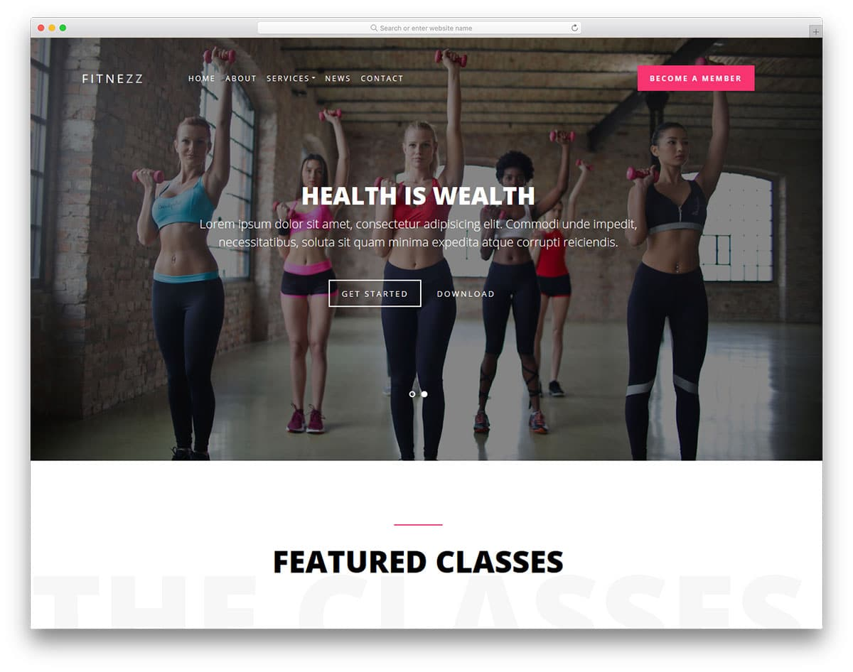 fitnezz-free-yoga-website-templates