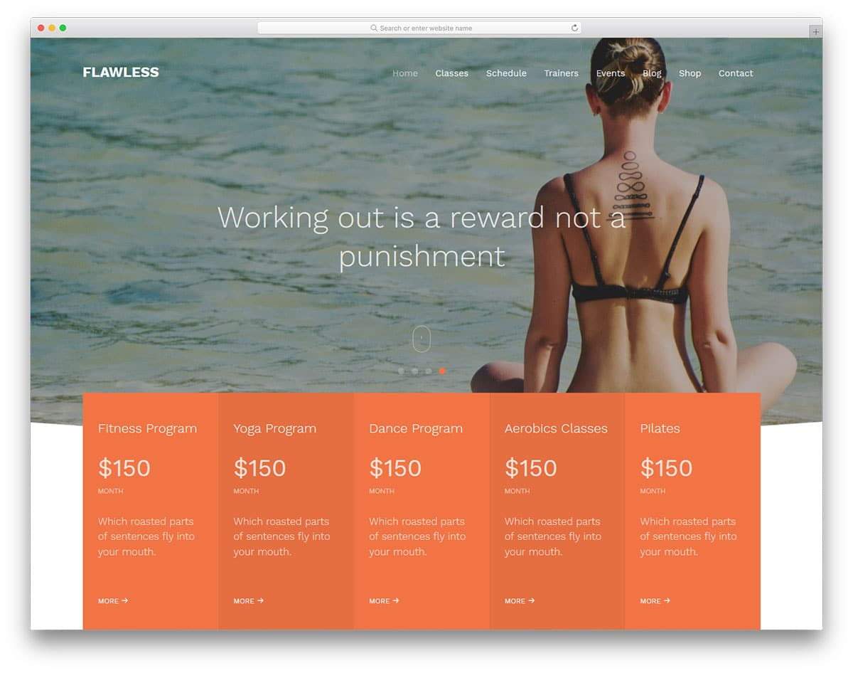 flawless-free-yoga-website-templates