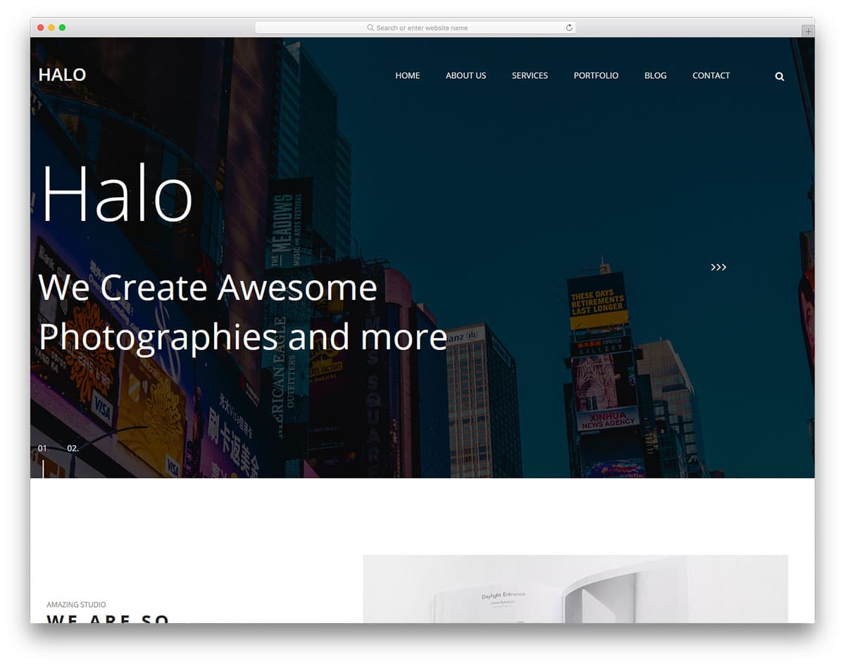 halo-free-artist-website-templates