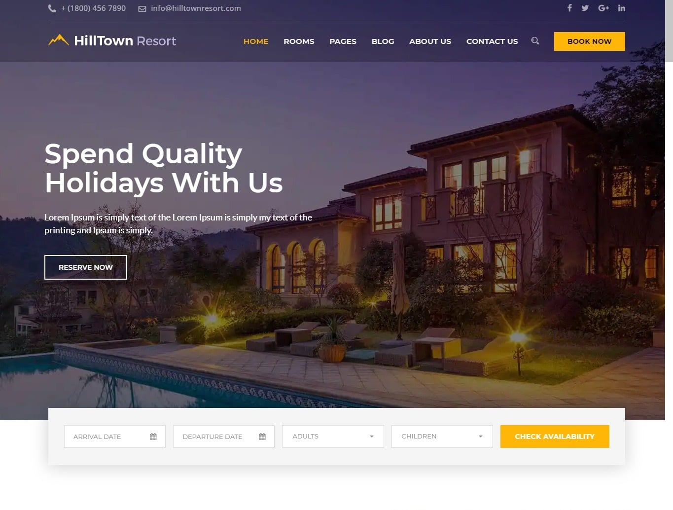 hilton-zante-hotel-website-template