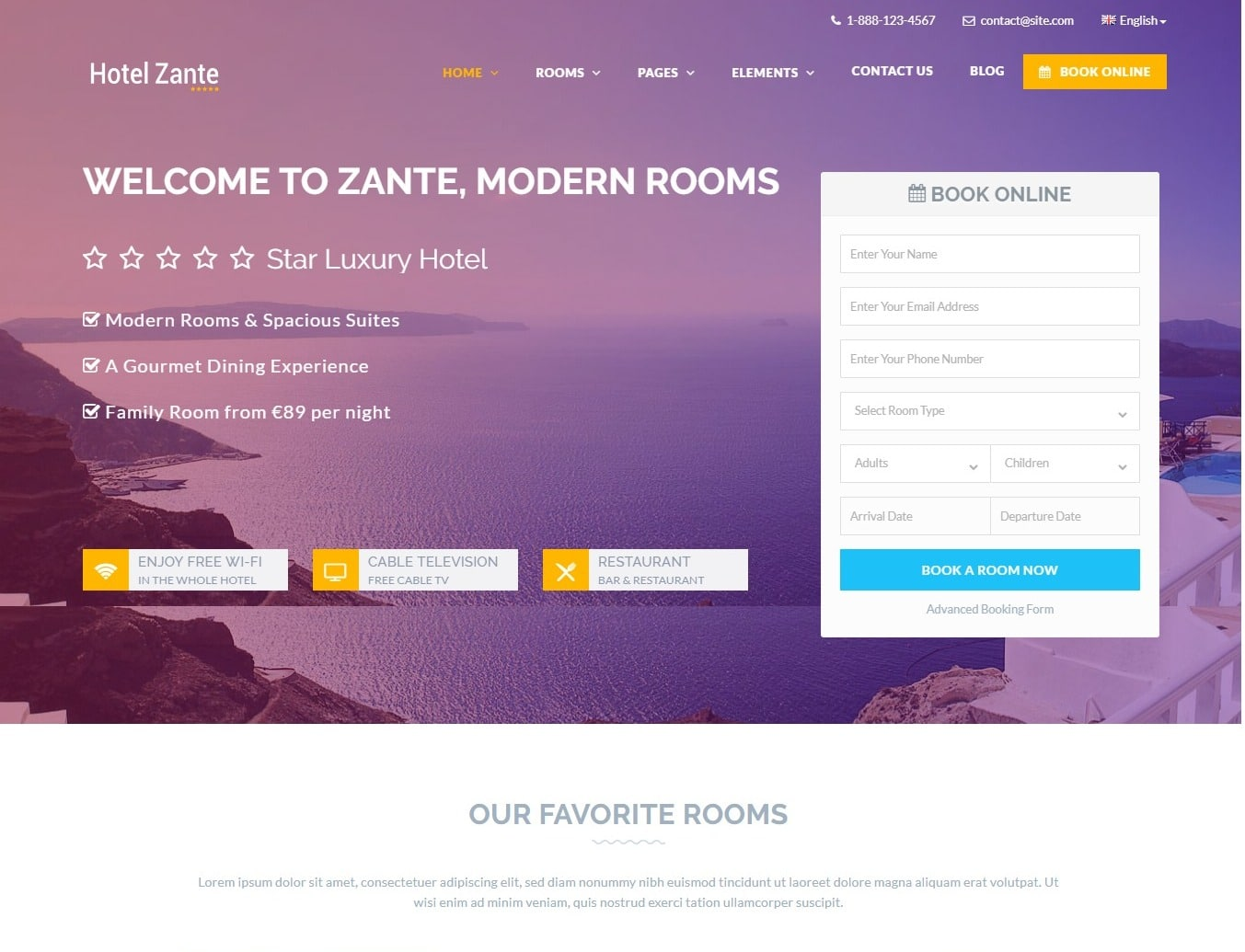 hotel-zante-hotel-website-template