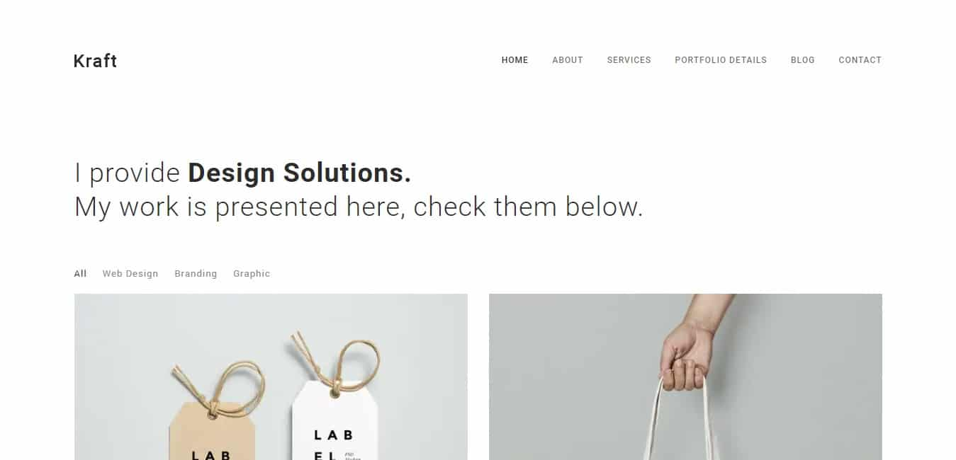 kraft-minimal-website-template