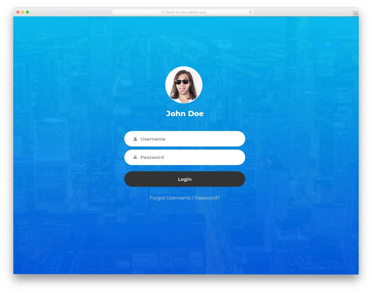 Login Form 12 Free Bootstrap Forms