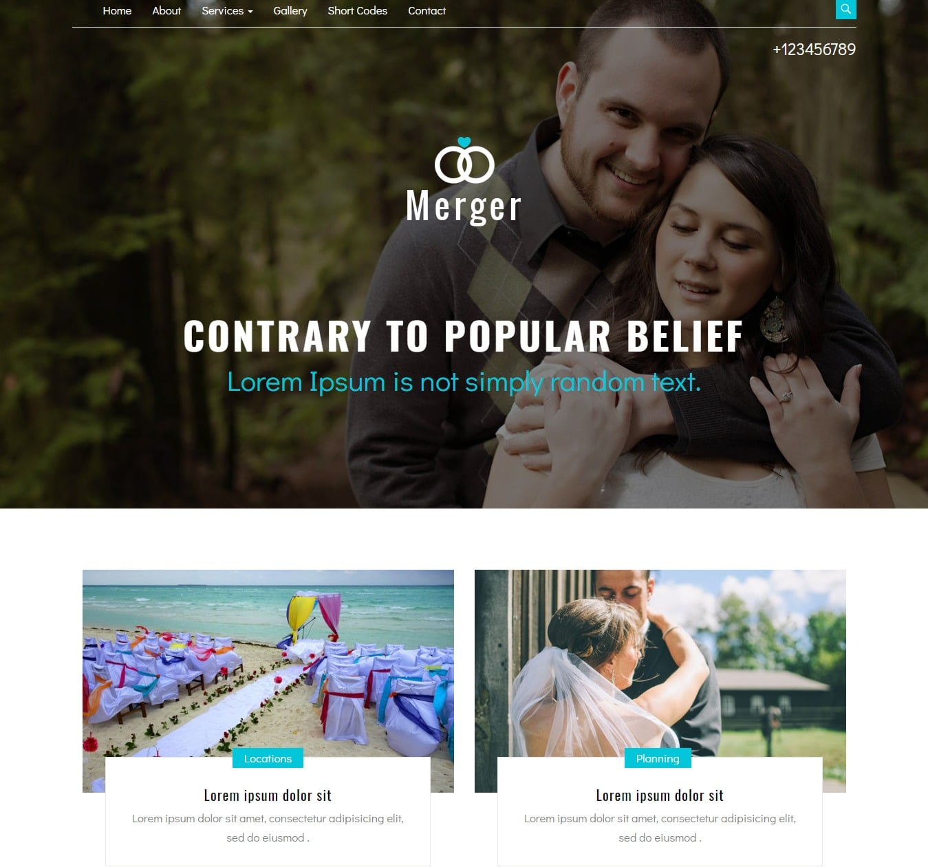 merger-free-wedding-website-template