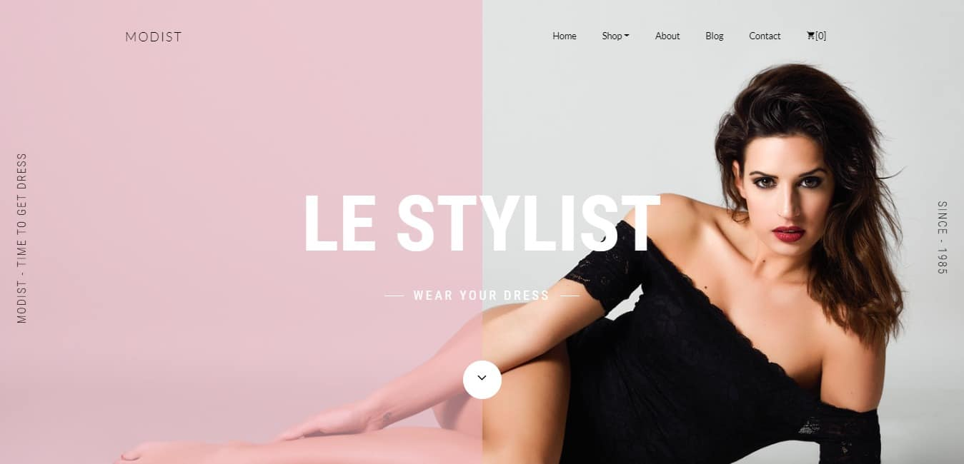 modist shop website template