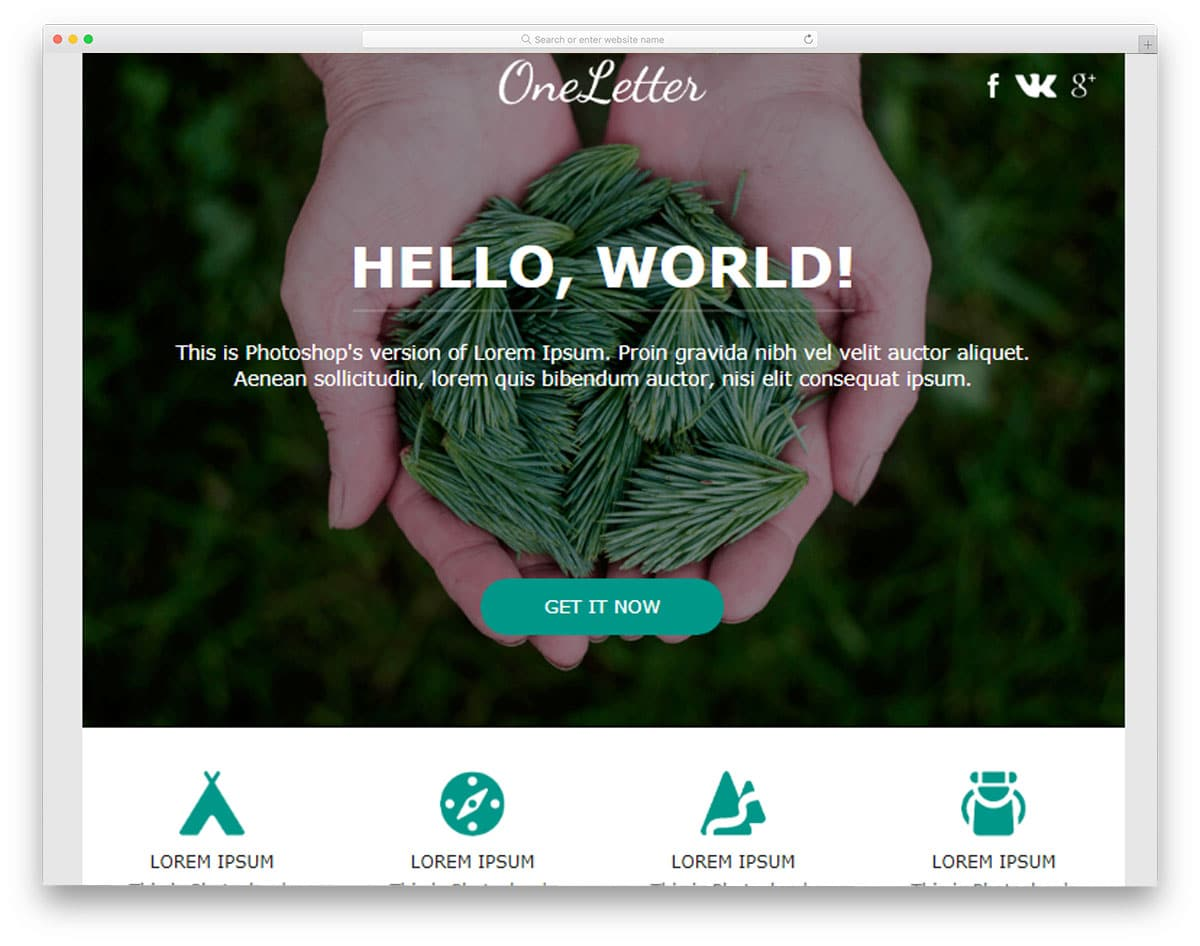one-letter-free-mailchimp-email-templates