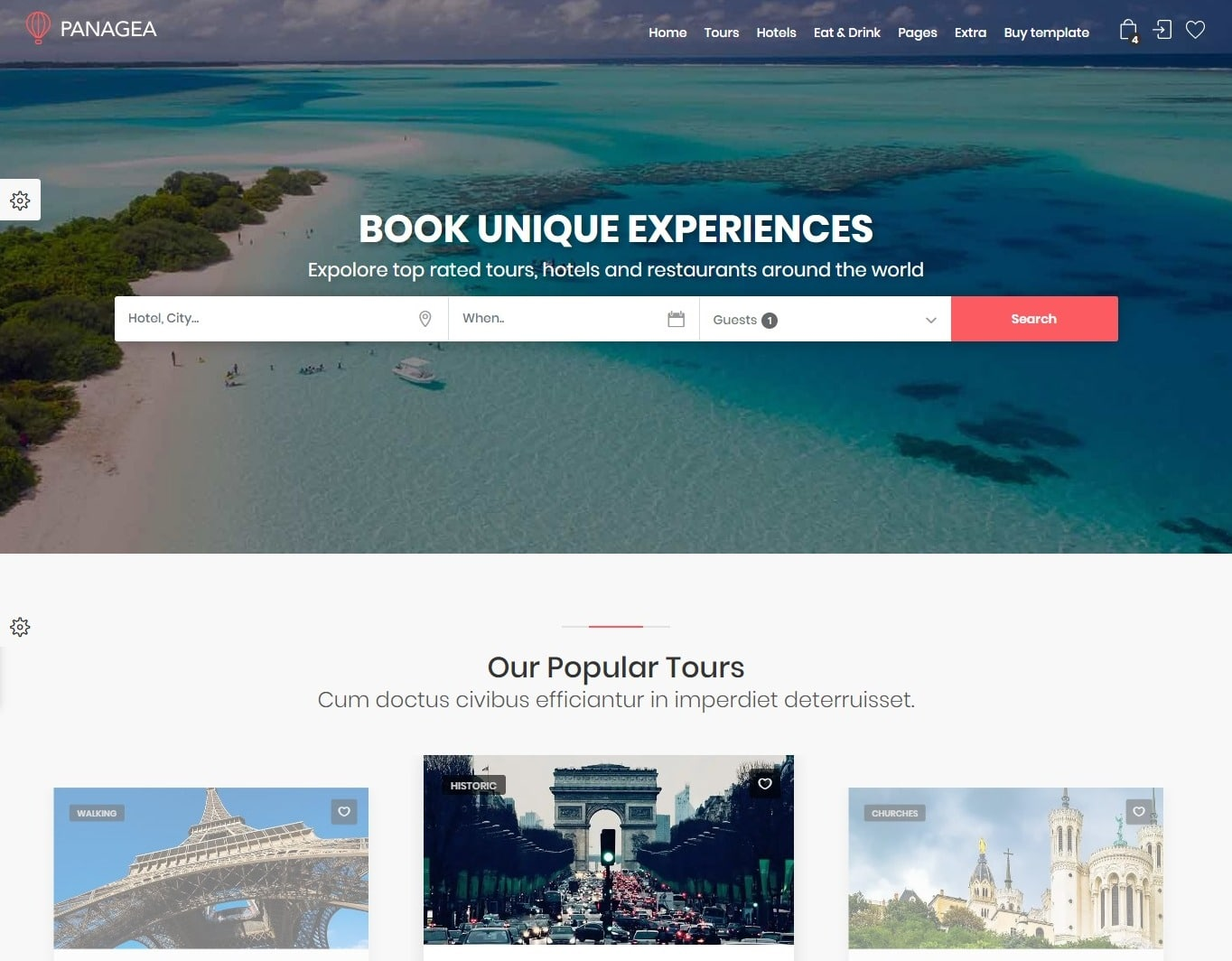panagea-hotel-website-template