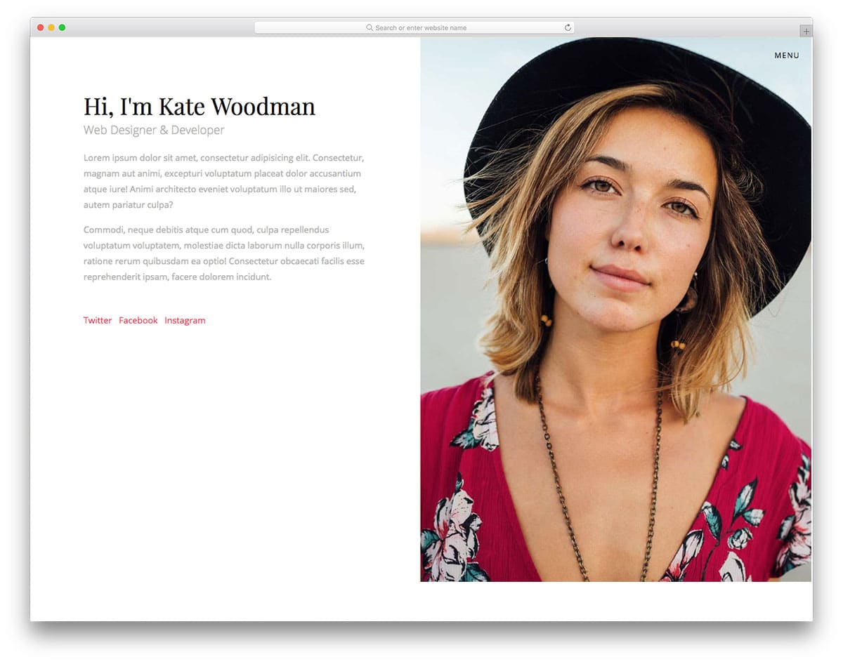 personify-free-artist-website-templates