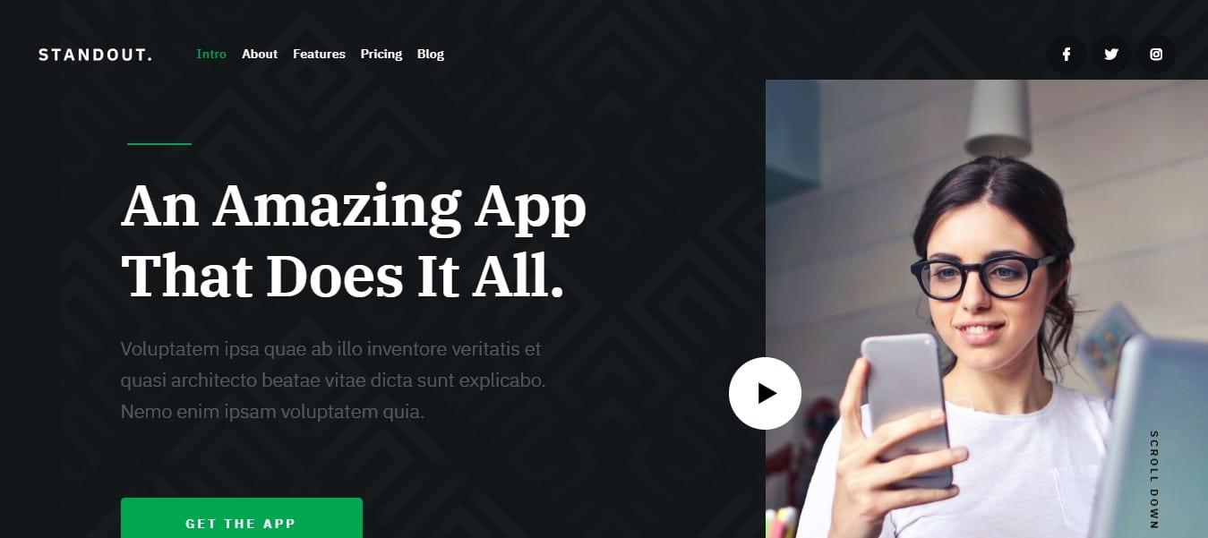 standut-mobile-app-landing-page-template