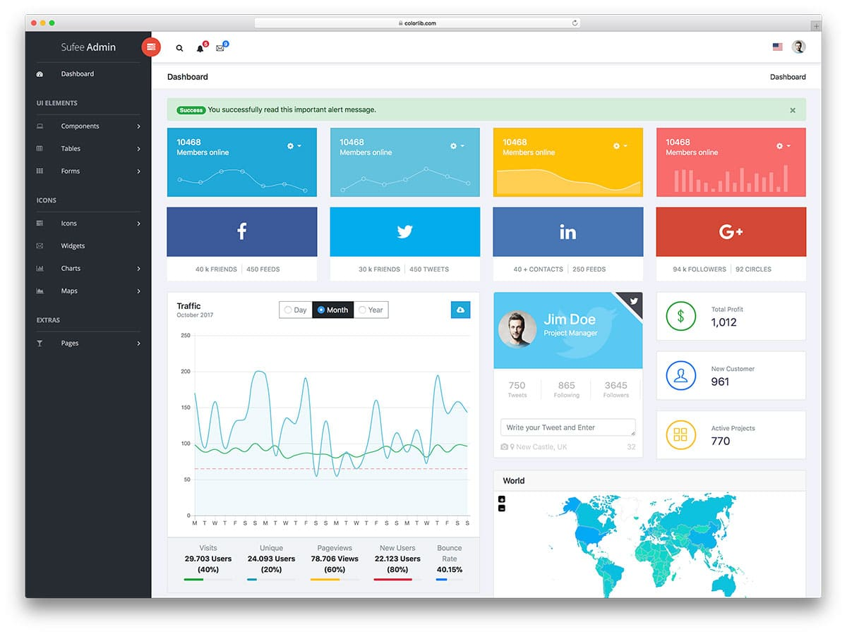 37 Free Bootstrap Admin Templates That Saves Your Money And Time