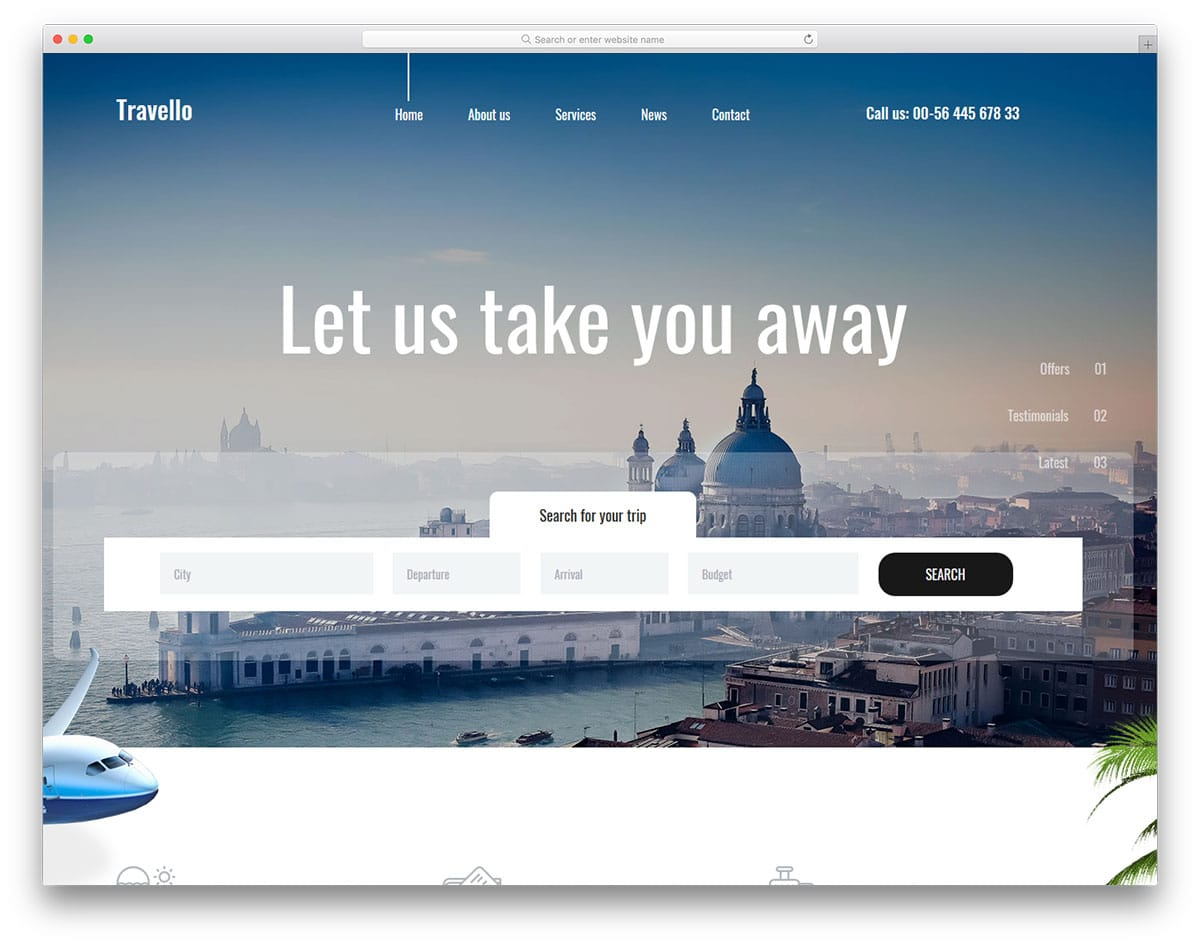 Travel Agency Website >> 37 Free Travel Agency Website Templates With Premium