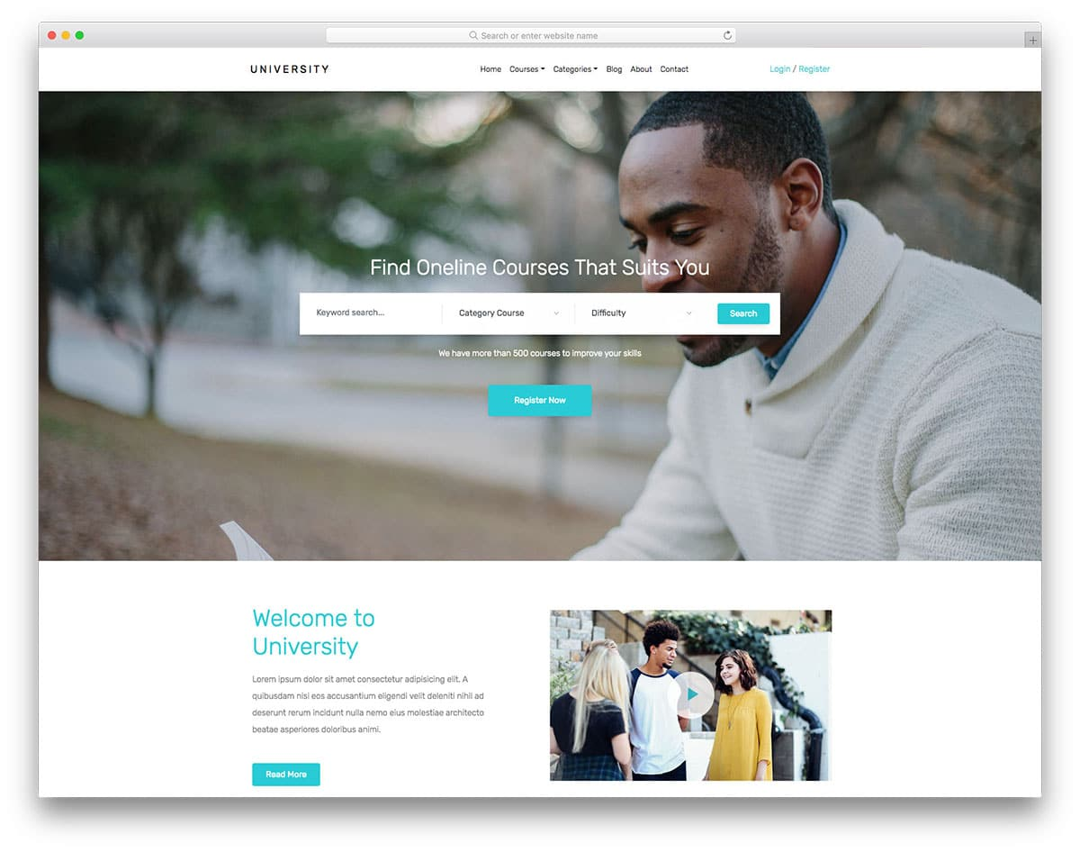 25 Free Bootstrap School Templates For Students In Digital Era