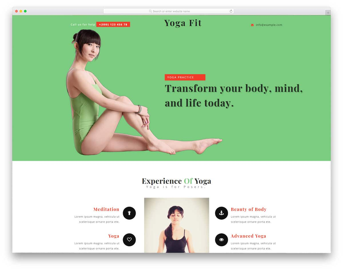 20 Best Free Yoga Website Templates For Yoga Studios 2018 - uiCookies