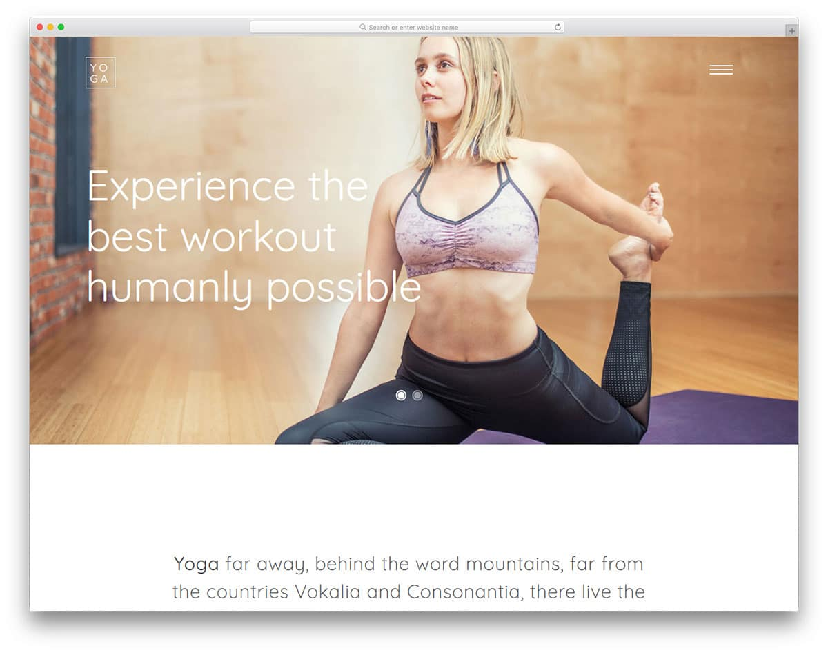 yoga-free-sports-website-templates