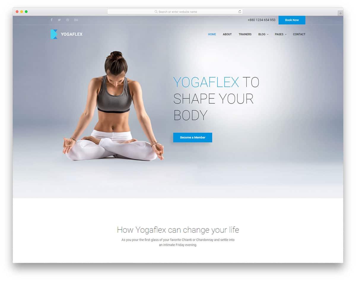 yogaflex-free-sports-website-templates