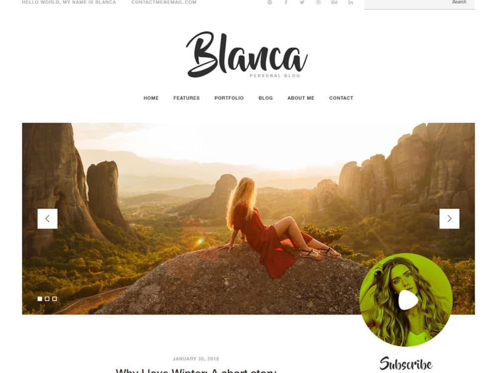 free responsive blogger templates blanca