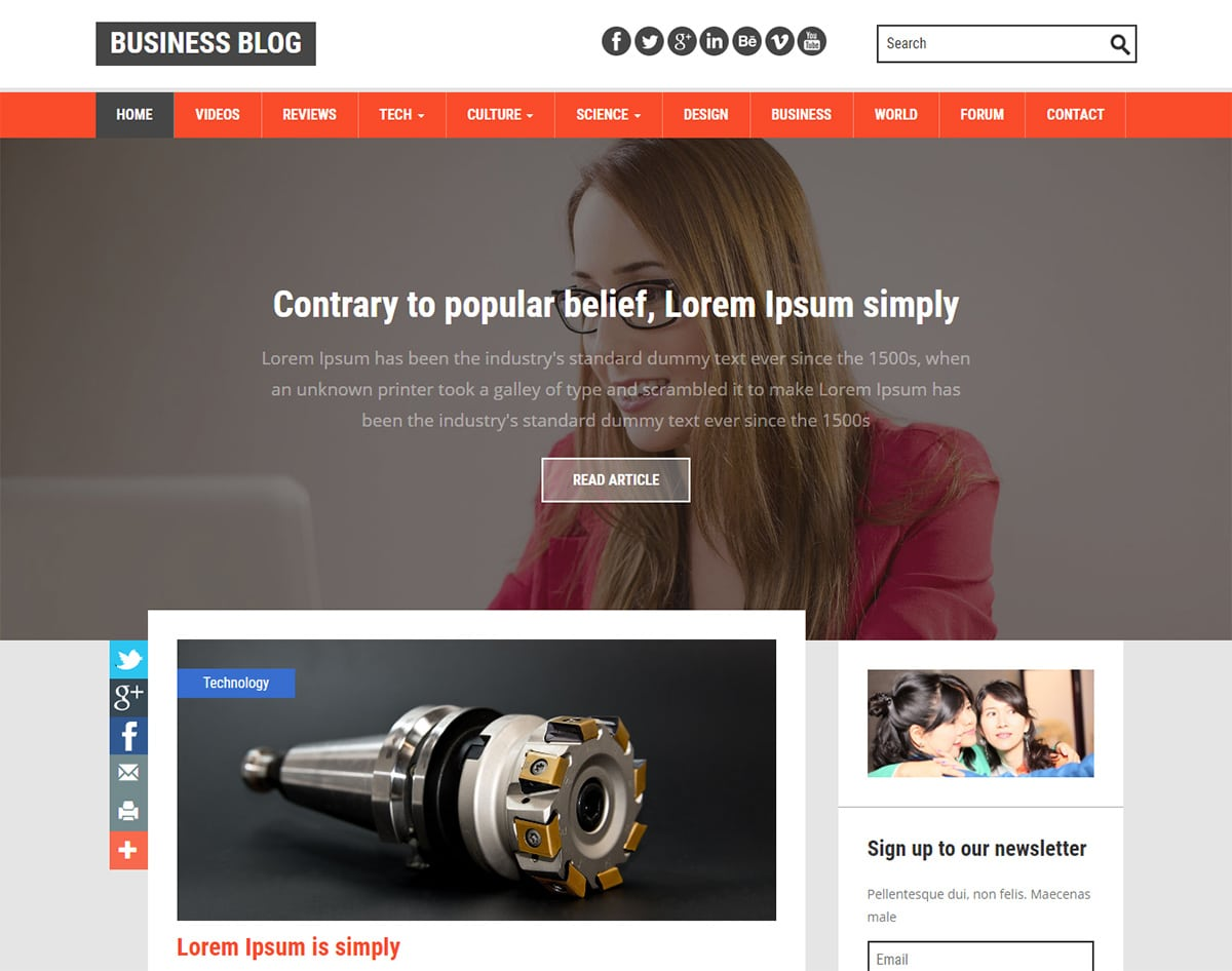 Free Responsive Blogger Templates Business Blog