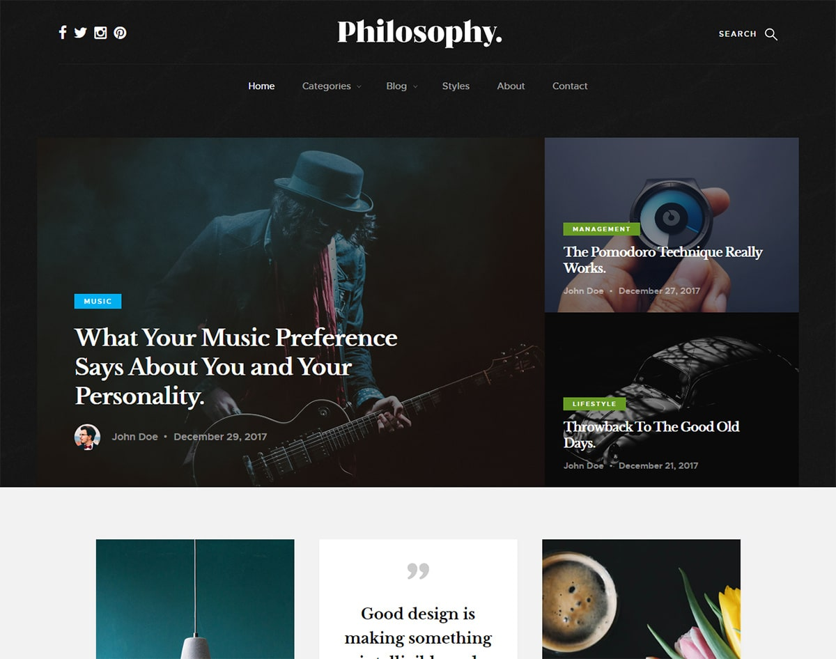 15 amazing free responsive blogger templates for 2018 uicookies free responsive blogger templates philosophy maxwellsz