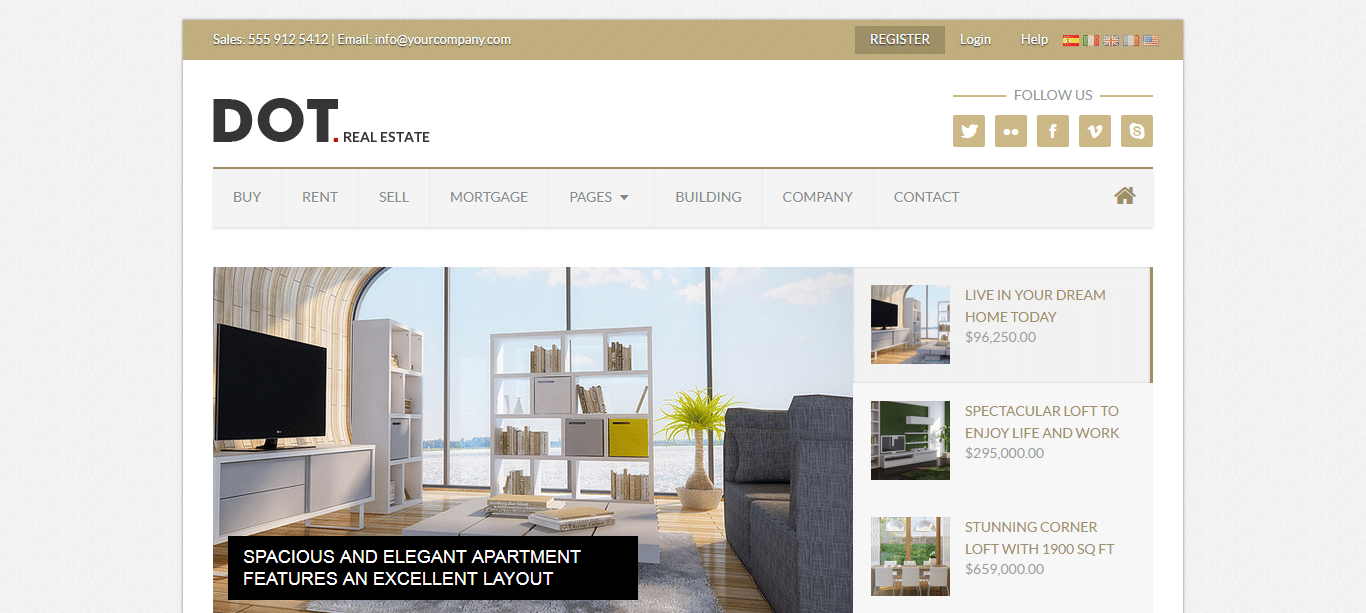 Premium-real-estate-webstie-template-dot