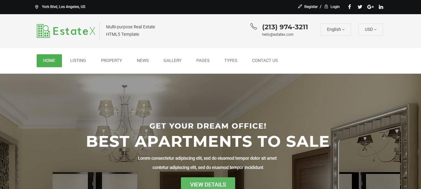 Premium-real-estate-webstie-template-estate-x