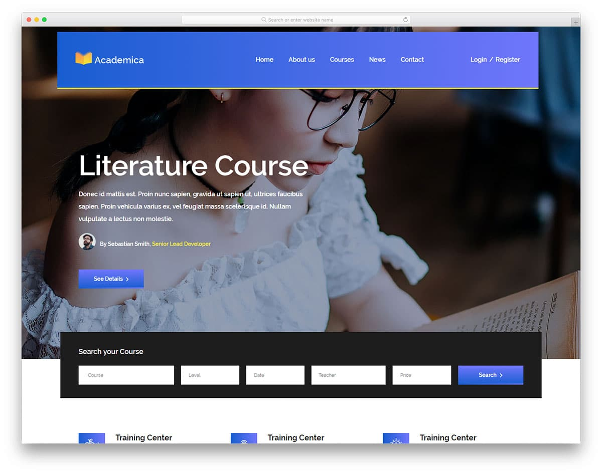 academica-free-bootstrap-education-templates