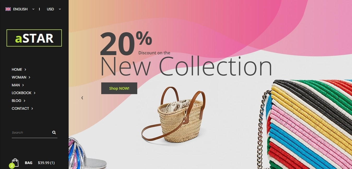Modern Innovative And Stylish Astar Is Yet Another Free HTML ECommerce Website Template If You Are Looking For An Effort Less Easy Way To Kick Start