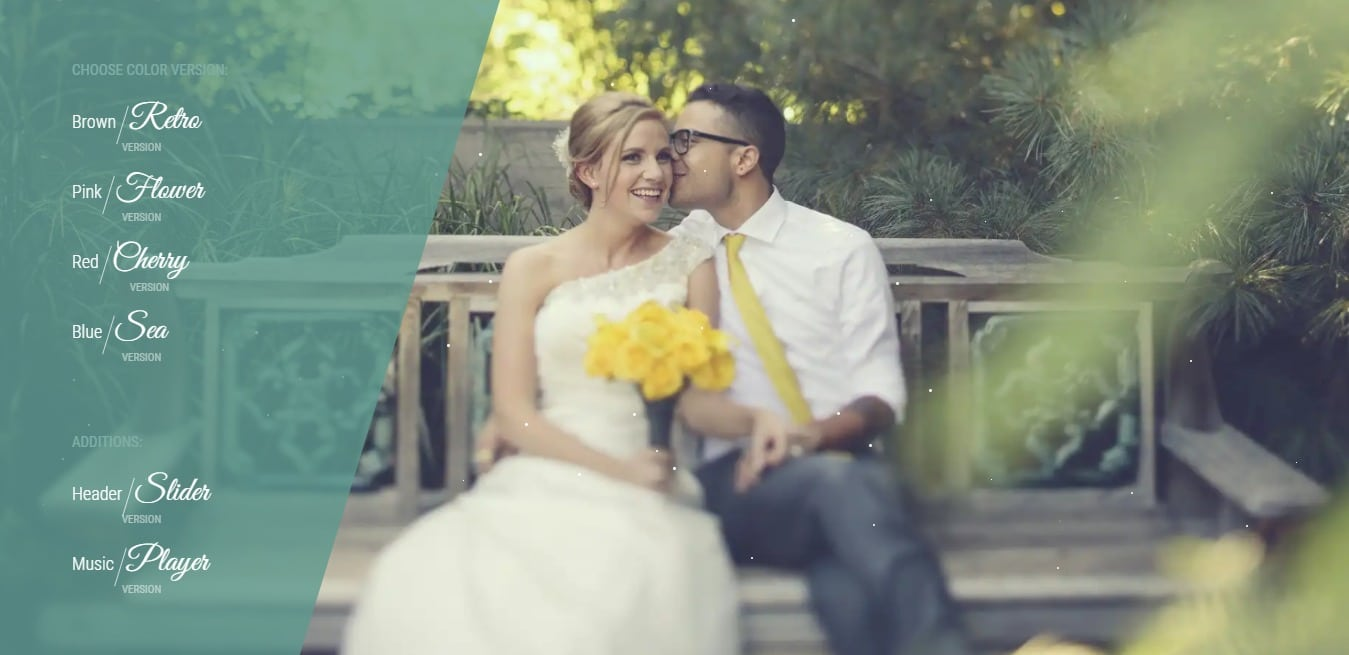 best day wedding website template