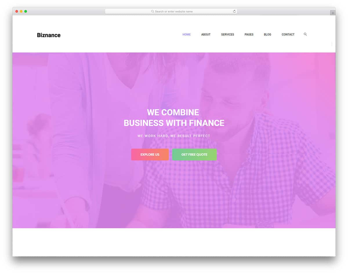 biznance-free-bank-website-templates