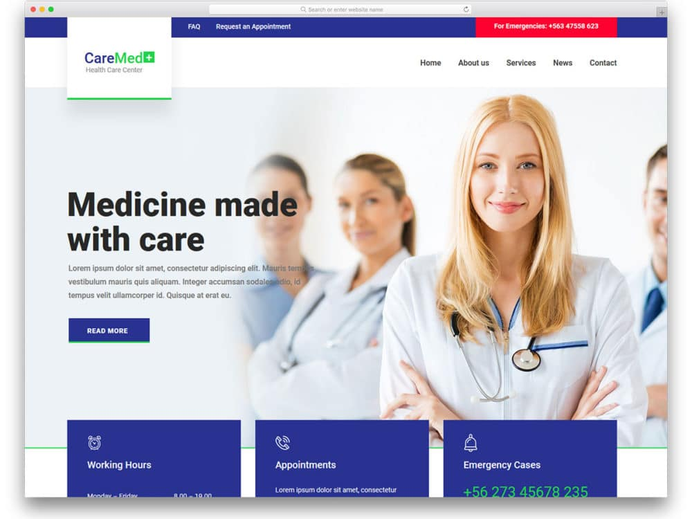 23 Free Doctor Website Templates With Neat Design 2018 - uiCookies