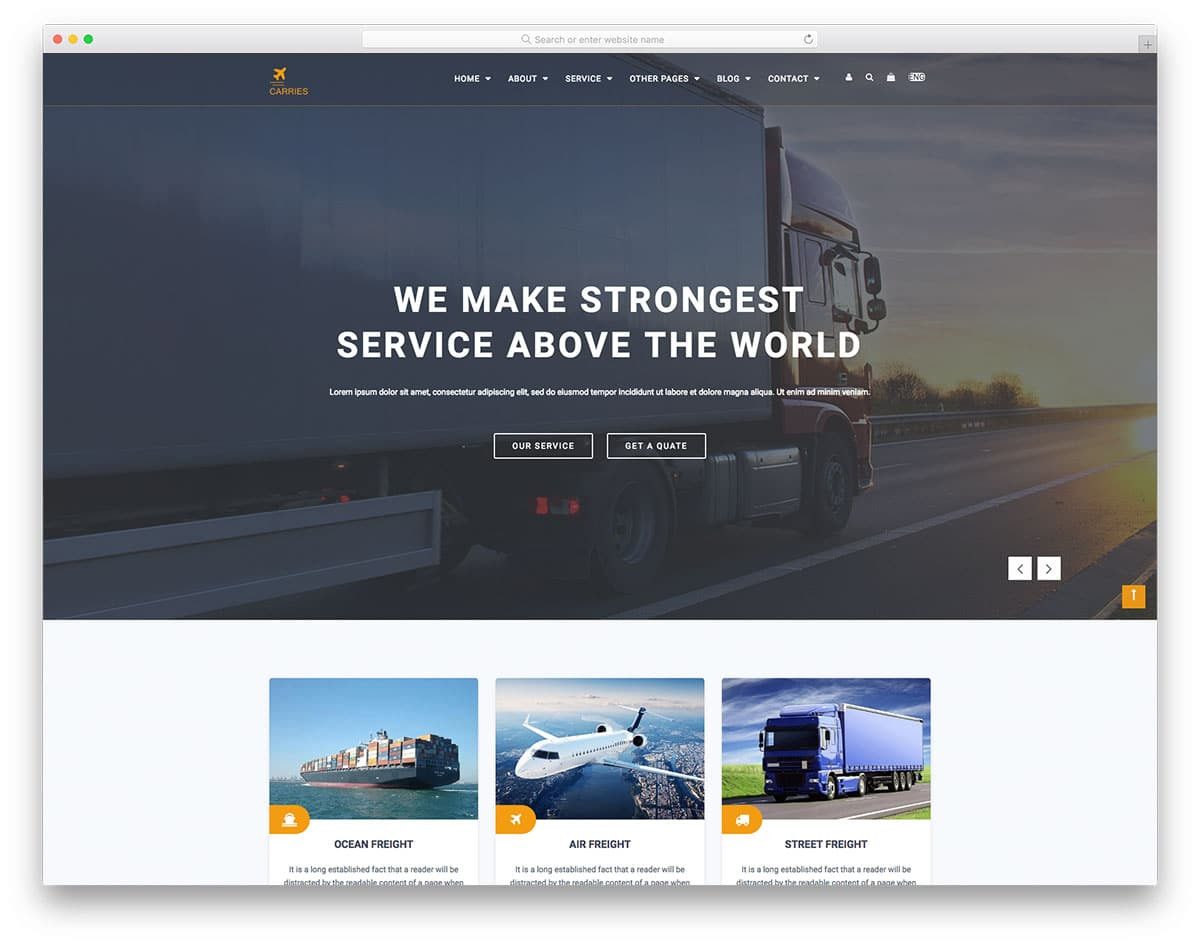 carries-free-industrial-website-templates