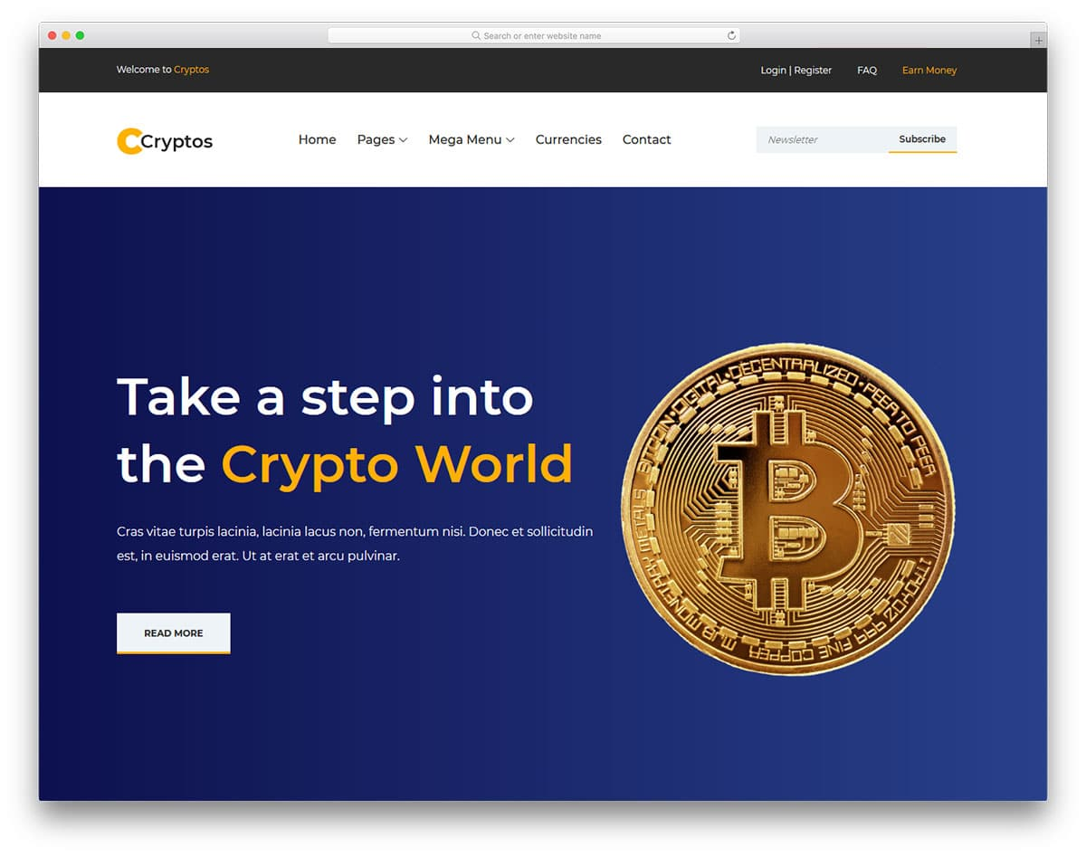 cryptos-free-bank-website-templates
