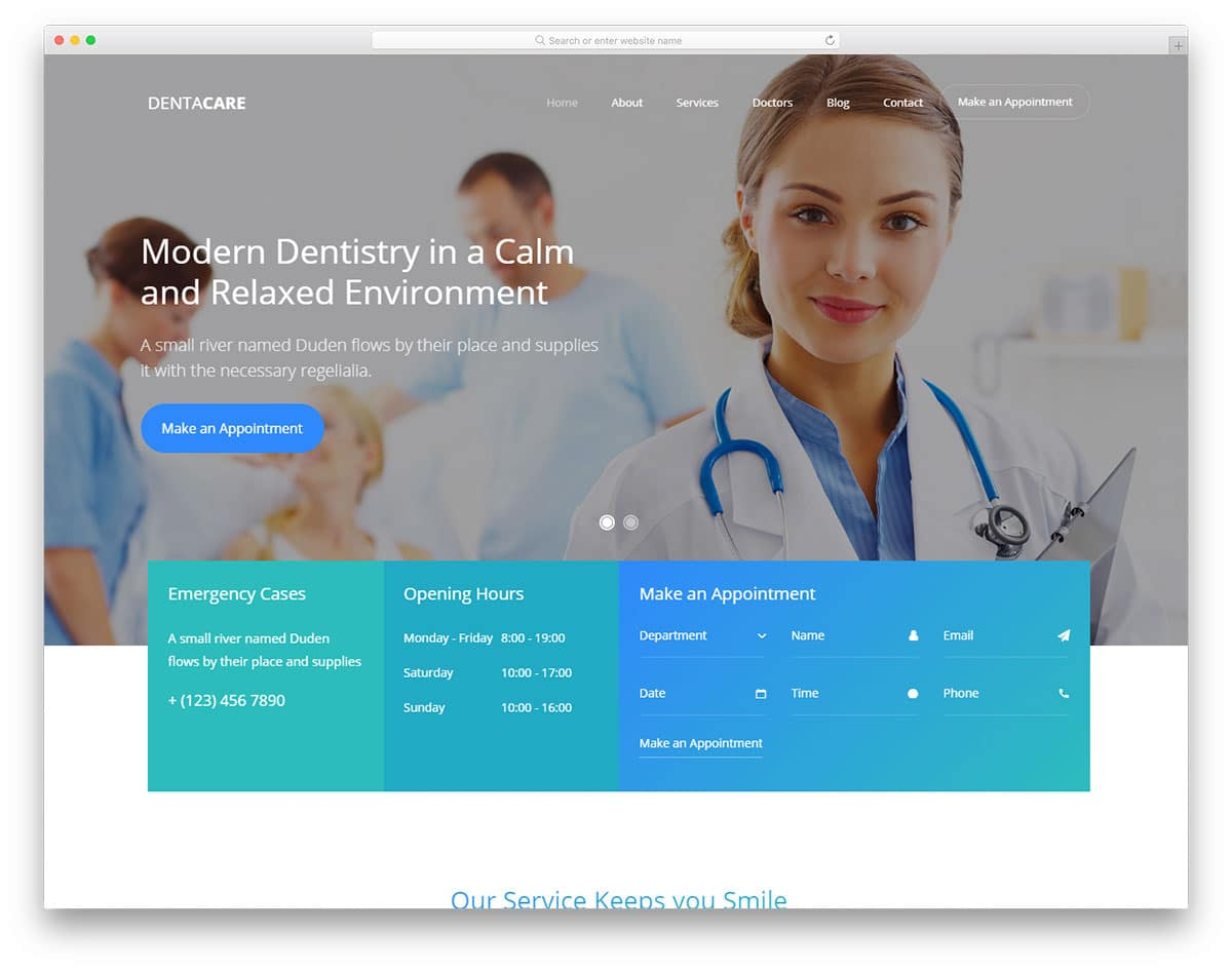 dentacare-free-bootstrap-hospital-templates