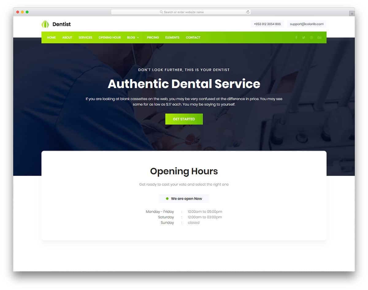 dentist-free-healthcare-website-templates