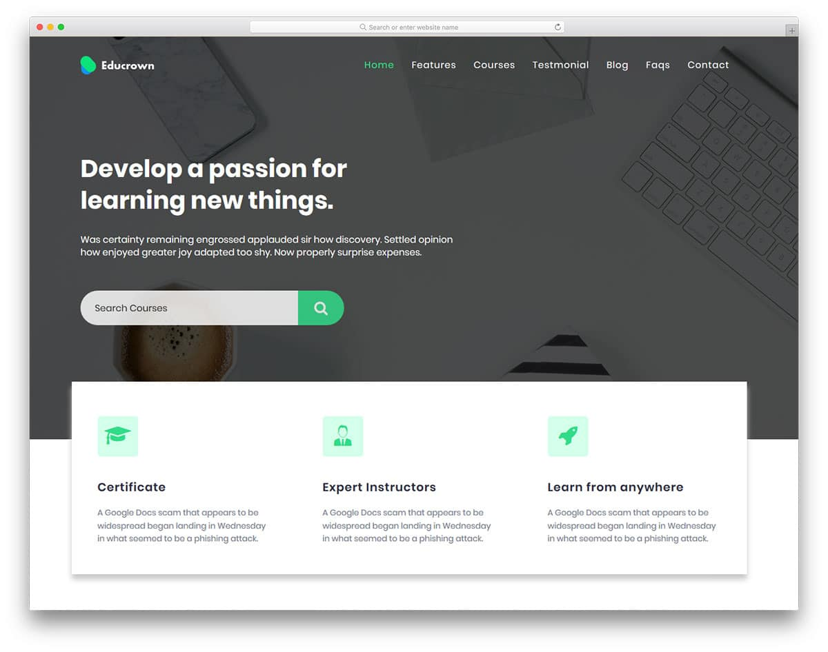 educrown-free-college-website-templates