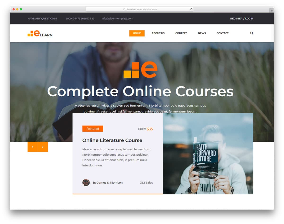 elearn-free-college-website-templates