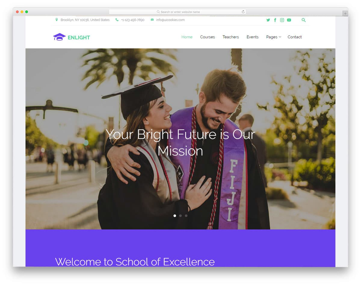 enlight-free-college-website-templates