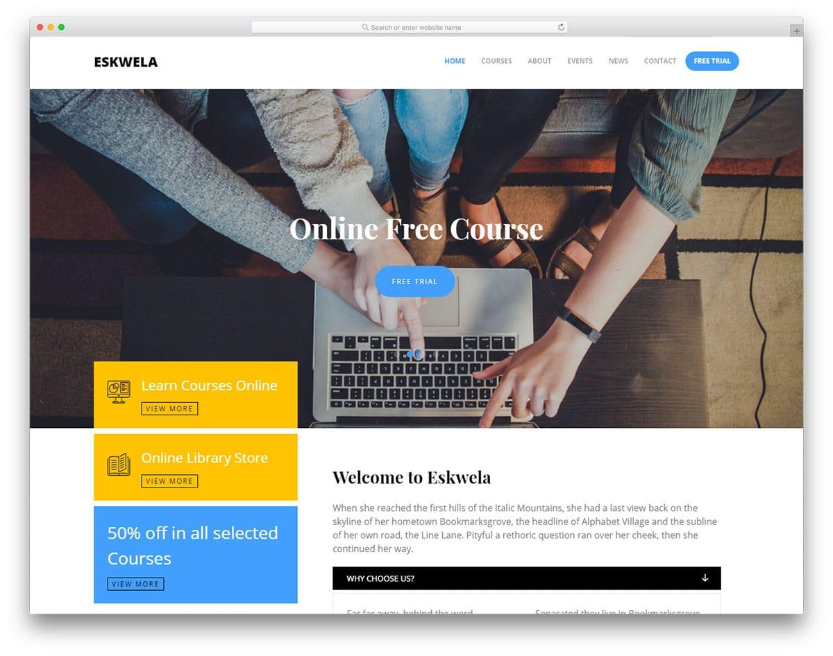 eskwela-free-bootstrap-college-templates