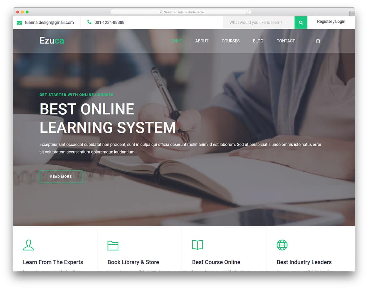 ezuca-free-bootstrap-college-templates