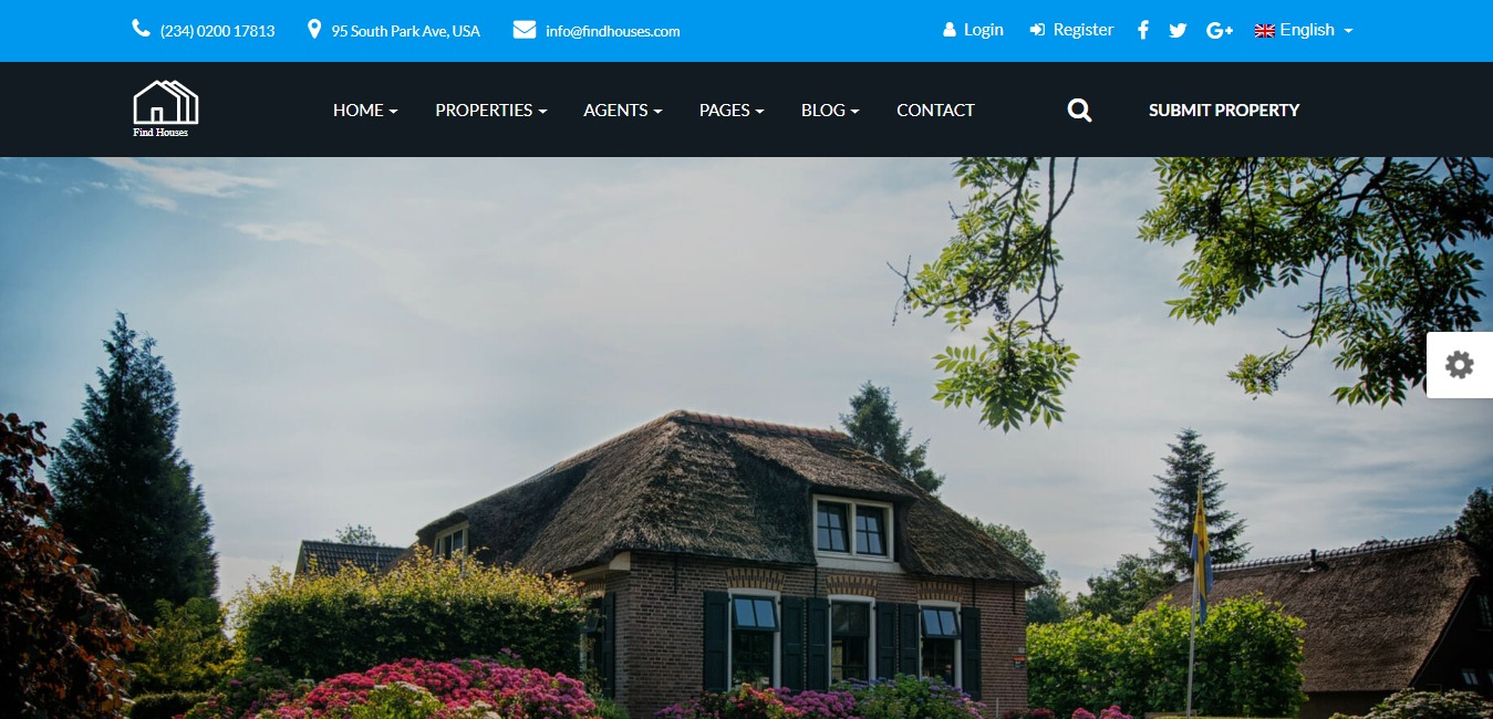 find houses premium real estate website template