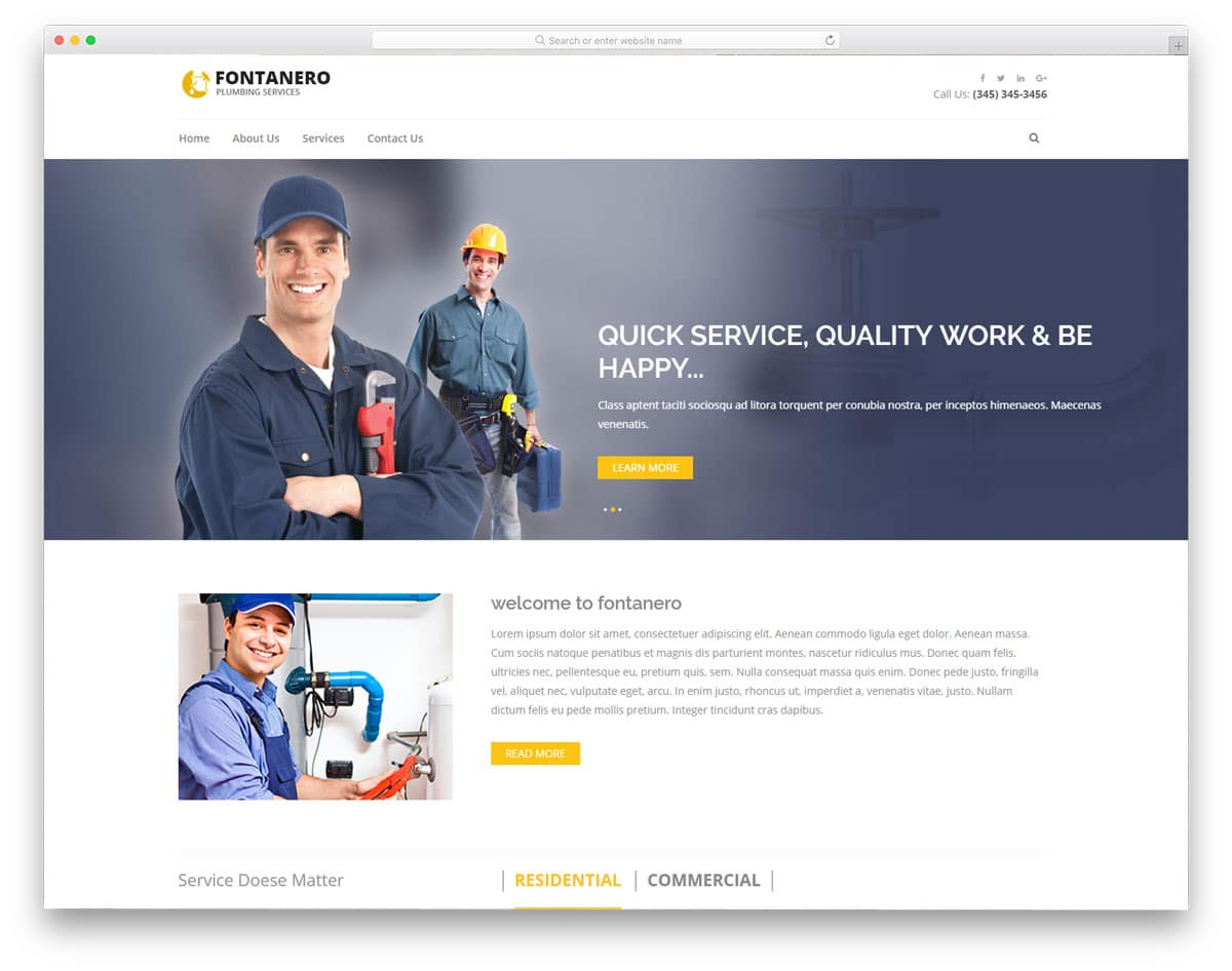 fontanero-free-industrial-website-templates
