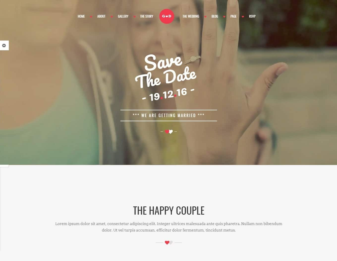 forever wedding website template