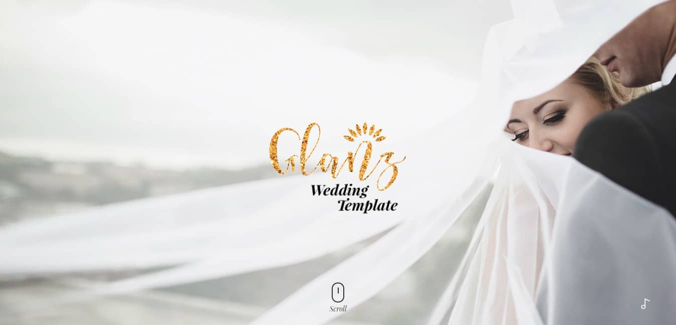 glanz-wedding-website-template