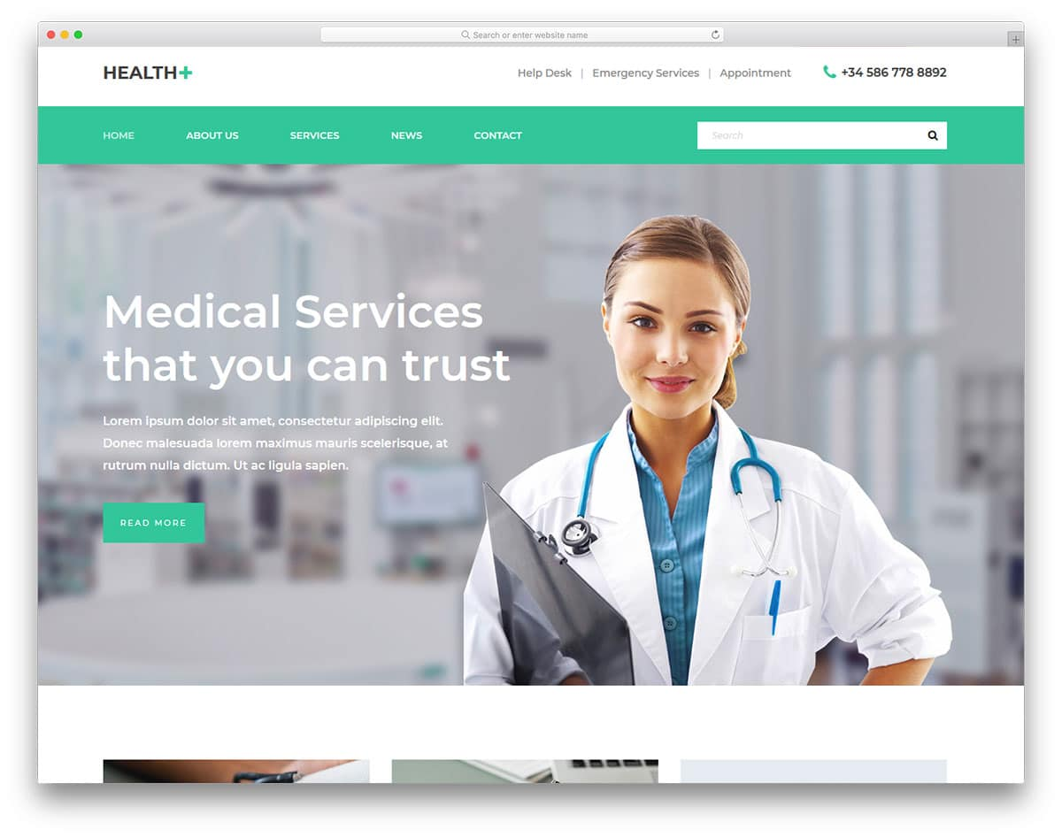 health-free-healthcare-website-templates