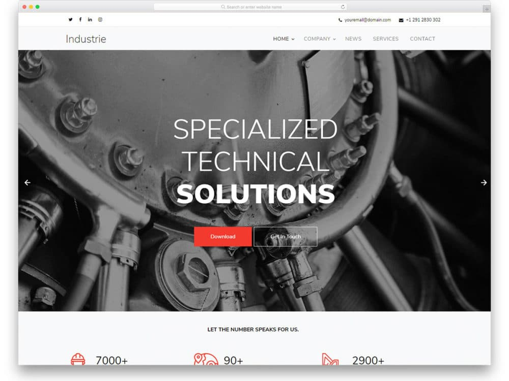 industrie-free-industrial-website-templates