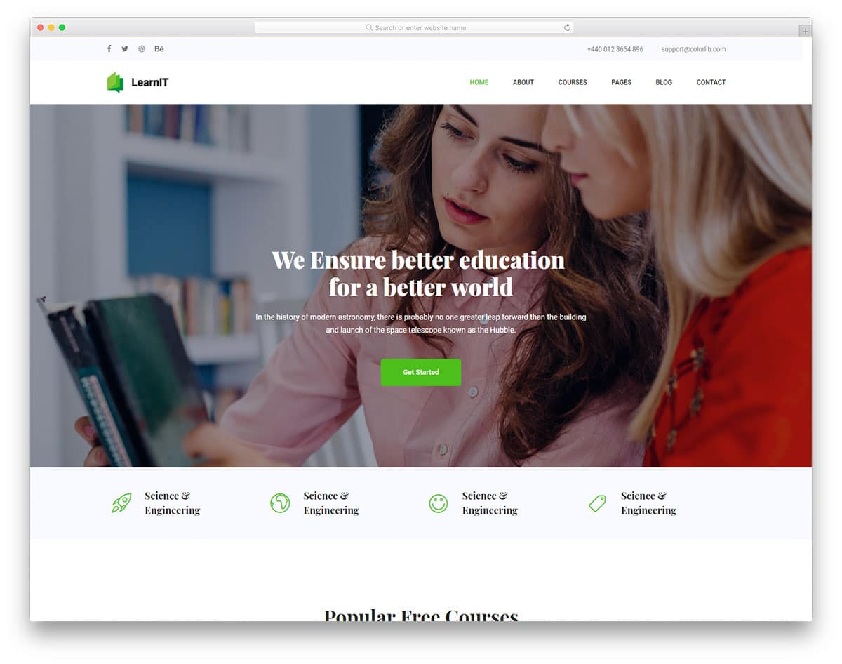 learnit-free-bootstrap-college-templates