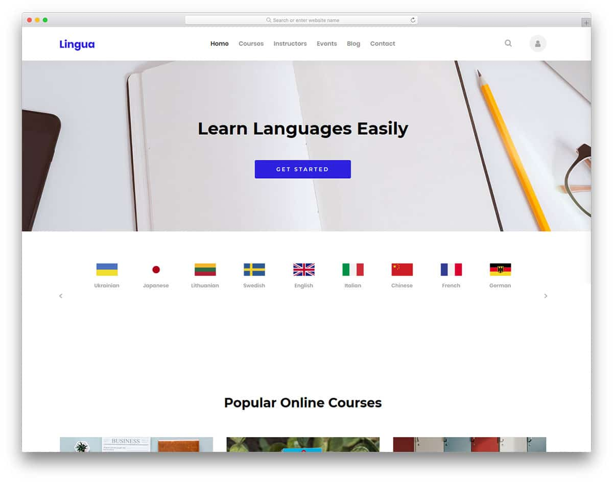 lingua-free-college-website-templates