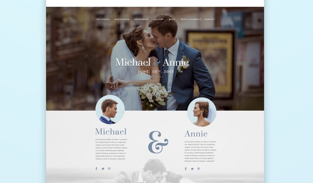 matrimony wedding website template