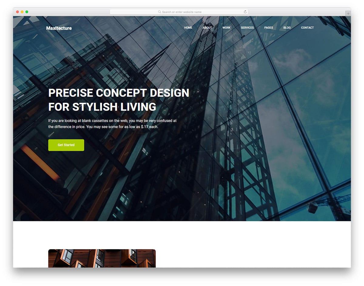maxitechture-free-industrial-website-templates
